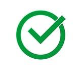 Símbolo correto Imagem de Stock