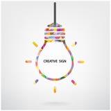 Símbolo creativo de la bombilla Imagenes de archivo