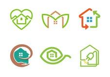 Símbolo creativo del diseño del ambiente del edificio Imagen de archivo libre de regalías