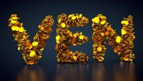 Símbolo cripto de VeChain da moeda Imagem de Stock Royalty Free
