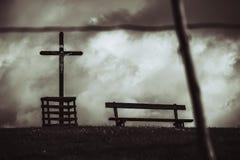 Símbolo cristiano cruzado fotografía de archivo libre de regalías