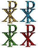Símbolo cristiano de RHO de la JI en estilo del grunge libre illustration