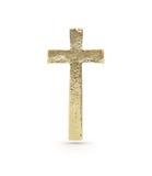 Símbolo cruzado del oro Fotos de archivo libres de regalías