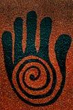 Símbolo curativo de la mano Imagen de archivo libre de regalías