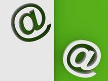Símbolo 3D del email Foto de archivo libre de regalías