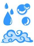 Símbolo da água ilustração stock