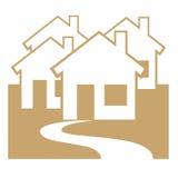 Símbolo da área residencial Fotografia de Stock Royalty Free