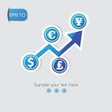 Símbolo da análise da finança, Imagens de Stock