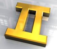 Símbolo da astrologia dos Gemini no ouro (3d) Fotografia de Stock
