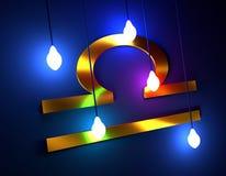 Símbolo da astrologia da Libra Fotografia de Stock Royalty Free