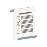 Símbolo da avaliação, do teste ou da votação Ícone ou logotipo isométrico liso Imagem de Stock