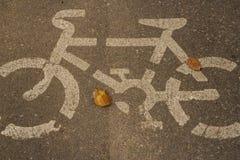 Símbolo da bicicleta Imagem de Stock