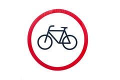 Símbolo da bicicleta Fotografia de Stock