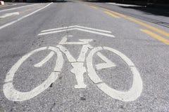 Símbolo da bicicleta Fotografia de Stock Royalty Free