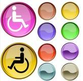 Símbolo da cadeira de roda Imagens de Stock Royalty Free