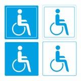 Símbolo da cadeira de rodas ou da pessoa da desvantagem Imagem de Stock