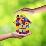 Símbolo da casa das flores Imagens de Stock