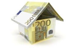 Símbolo da casa do Euro 200 ilustração royalty free