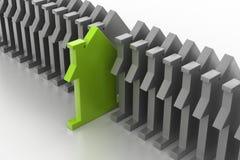 símbolo da casa do modelo 3d Imagem de Stock