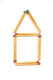 Símbolo da casa dos fósforos isolados no branco Imagem de Stock Royalty Free