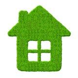 Símbolo da casa verde Fotos de Stock Royalty Free