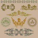 Símbolo da cerveja da etiqueta Imagens de Stock Royalty Free