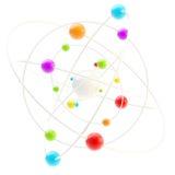 Símbolo da ciência como um molectule complexo Imagem de Stock Royalty Free