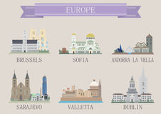 Símbolo da cidade. Europa Imagens de Stock Royalty Free