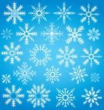 Símbolo da coleção do floco de neve do inverno Fotos de Stock Royalty Free