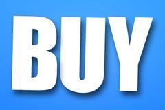 Símbolo da compra Imagens de Stock Royalty Free