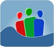 Símbolo da comunidade ilustração stock