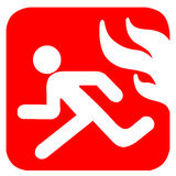 Símbolo da conflagração ilustração royalty free