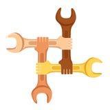 Símbolo da cooperação Fotografia de Stock