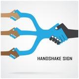 Símbolo da cooperação, sinal da parceria Fotos de Stock Royalty Free
