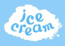 Símbolo da cor com um gelado da palavra lettering Luz do vetor art Imagens de Stock Royalty Free