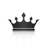 Símbolo da coroa com o isolado preto da cor no fundo branco, meu de Fotografia de Stock Royalty Free
