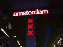 Símbolo da cruz vermelha de Amsterdão Imagens de Stock