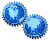 Símbolo da economia mundial Fotografia de Stock Royalty Free