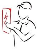 Símbolo da eletricidade Foto de Stock Royalty Free