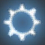 Símbolo da engrenagem da quadriculação do vetor Imagens de Stock