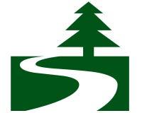 Símbolo da estrada secundária Foto de Stock