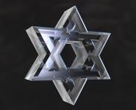 Símbolo da estrela de David no vidro Imagens de Stock Royalty Free