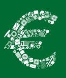 Símbolo da euro- moeda Imagem de Stock Royalty Free