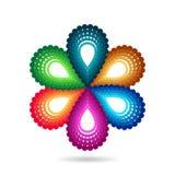 Símbolo da flor Imagens de Stock Royalty Free