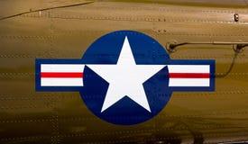 Símbolo da força aérea no lutador foto de stock royalty free