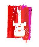 Símbolo da guitarra do Grunge Fotografia de Stock