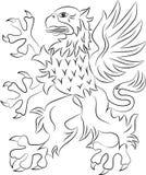 Símbolo da heráldica do grifo fotografia de stock royalty free