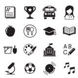 Símbolo da ilustração do vetor dos ícones da educação escolar do jardim de infância Foto de Stock