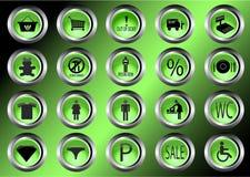 Símbolo da ilustração dos ícones da alameda de compra Fotos de Stock Royalty Free
