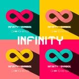 Símbolo da infinidade Grupo infinito dos sinais ilustração do vetor